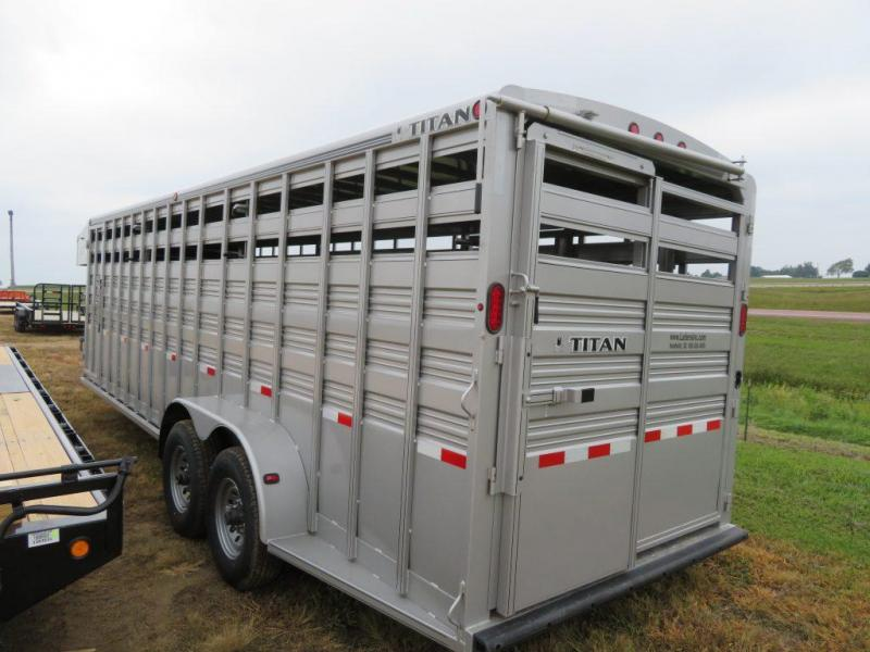 New 2018 Titan 24 GN Stock Trailer