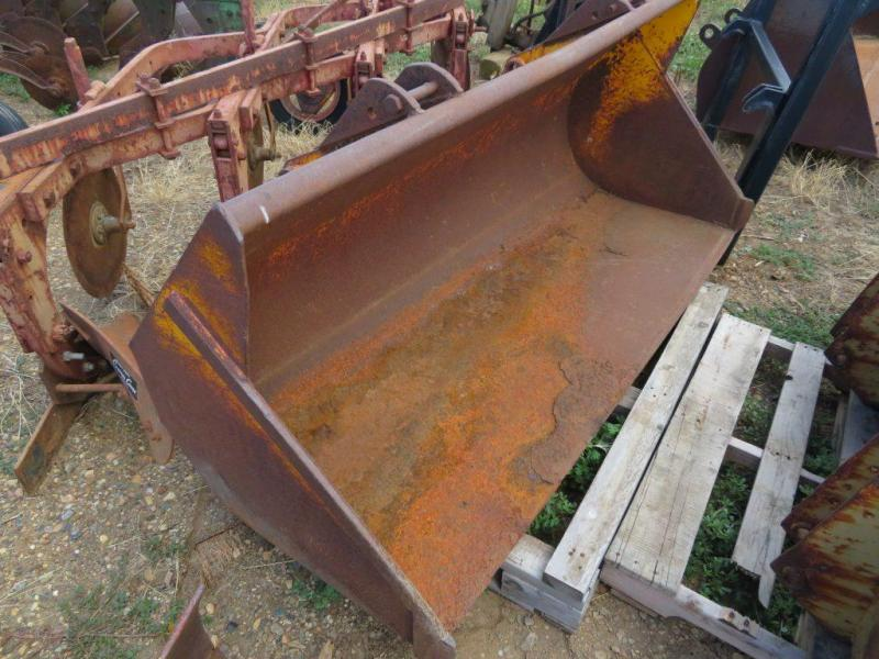 "Used Yellow 72"" Industrial Loader Bucket"