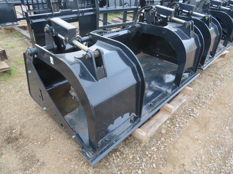 "New Jenkins 68"" Skid Steer Flat Bottom Bucket with Grapple"