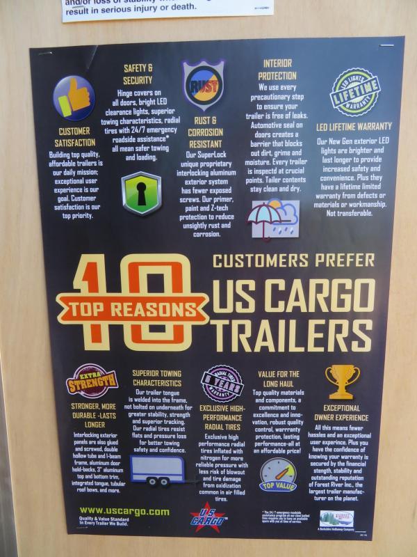 2020 US Cargo 7 x 14 Enclosed Cargo Trailer