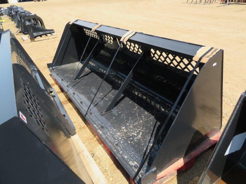 "New Jenkins 120"" Skid Steer High Capacity Snow & Mulch Bucket"