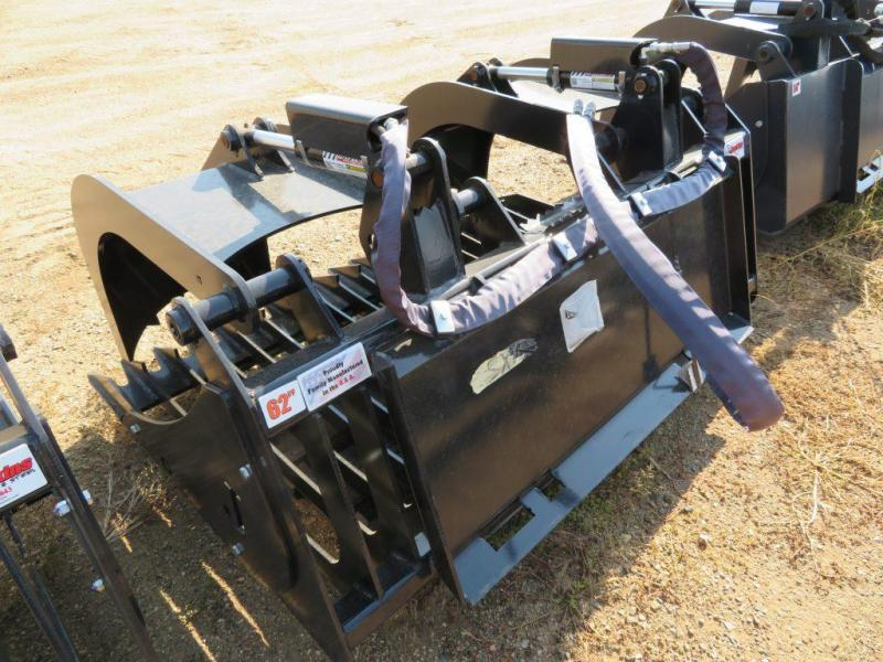 "New Jenkins - 62"" Skid Steer Rock Bucket with Grapple"