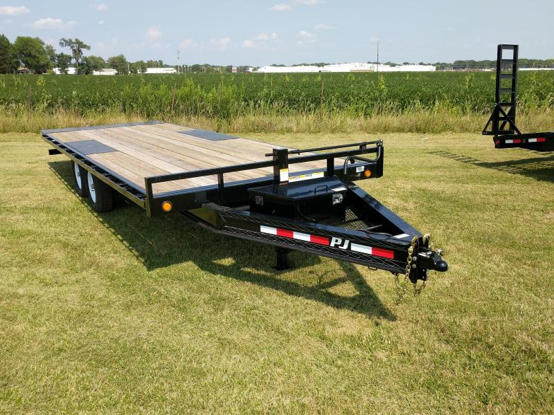 2019 PJ Trailers Deckover Tilt (T8) Flatbed Trailer in Avalon, WI