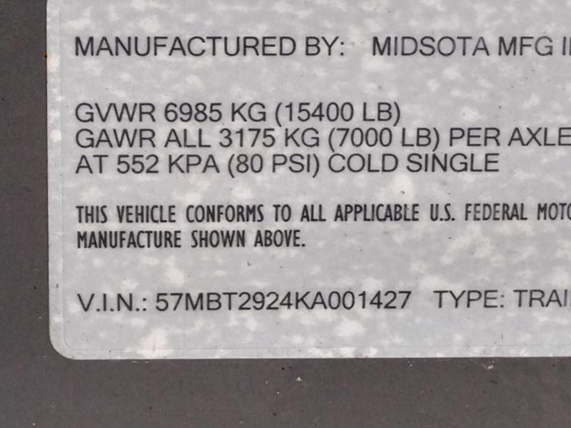 2019 Midsota MIDSOTA TB-22 Flatbed Trailer
