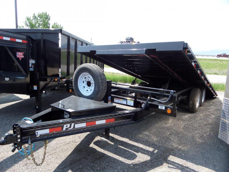 2020 PJ Trailers Deckover Tilt (T8) Equipment Trailer