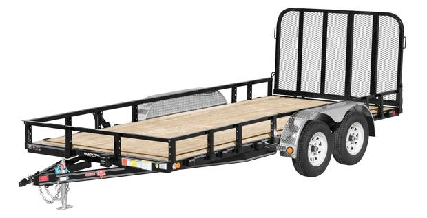 2020 PJ Trailers 83 in. Tandem Axle Channel Utility (UL) Utility Trailer