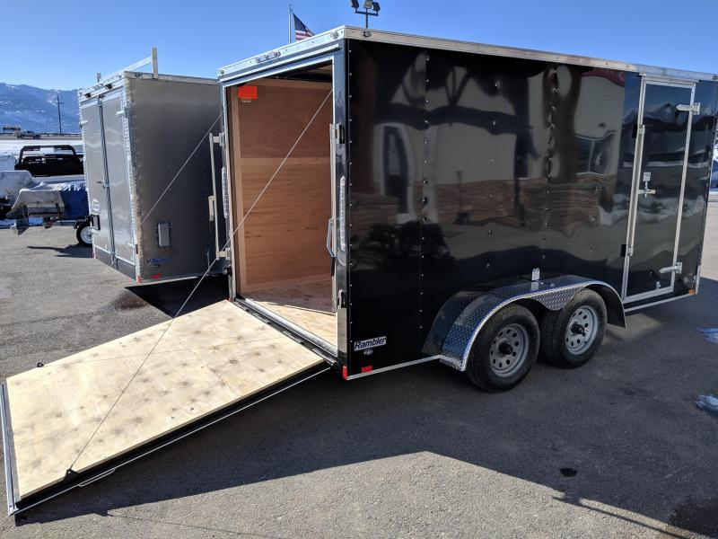 2019 Continental Cargo Rambler 7 x 14 Enclosed Cargo Trailer