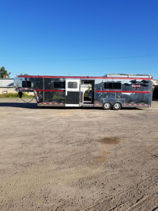 2006 Precision 5-7H BOX STALL TRANSPORT W/ AIR RIDE Horse Trailer