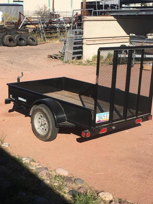 2015 Load Trail UT 5X8 SOLID SIDES W/ RAMP ATV Trailer