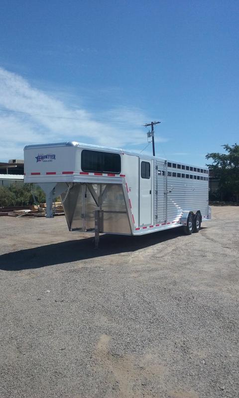 2017 Frontier STOCK COMBO 24' Livestock Trailer