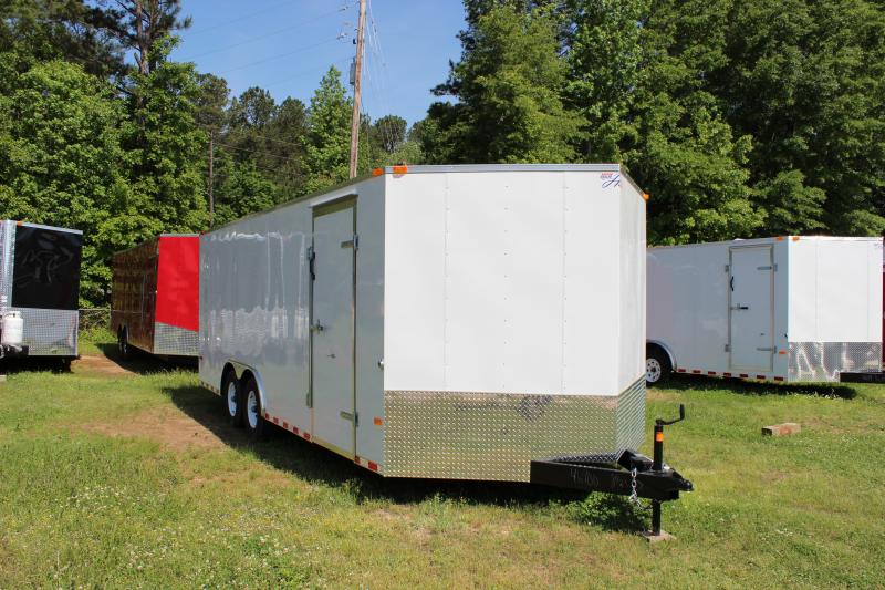 2018 Other Horton Hybrid 8.5 x 20 White Vnose Cargo Trailer Cargo / Enclosed Trailer in Plum Branch, SC