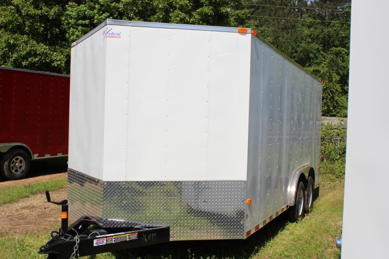 2018 Other Horton Hybrid 8x16 White Vnose Cargo / Enclosed Trailer