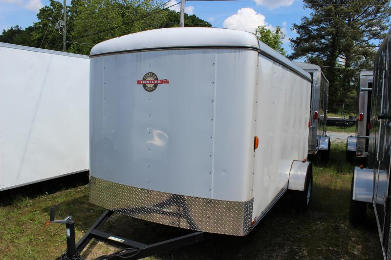 2018 Carry-On 6x12 White Carry-On Flat Nose Trailer Cargo / Enclosed Trailer in Ashburn, VA