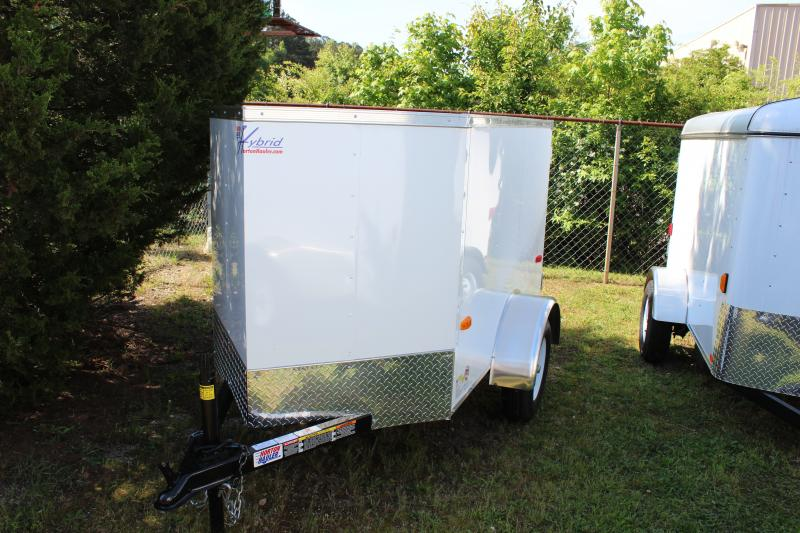 2018 Other Horton Hybrid 4x6 White Vnose Cargo Trailer Cargo / Enclosed Trailer in Plum Branch, SC