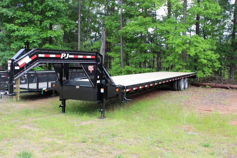 PJ FDR40A2HSSK 40 FOOT CLASSIC FLATDECK WITH DUALS ****** ELEC/HYD (1600PSI PUMP )VIN#4P5FD4021D3002776 GOOSENECK 2-10000# AXLES STRAIGHT DECK WITH 8' SLIDE IN RAMPS