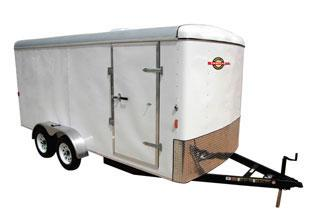 White CARRY-ON 7X16CG V-NOSE Enclosed Cargo Trailer in Ashburn, VA