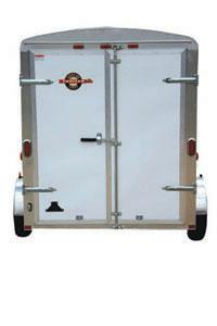 White CARRY-ON 7X16CG V-NOSE Enclosed Cargo Trailer