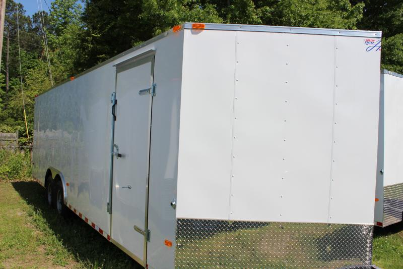 2016 Other Horton Hybrid 8.5 x 24 White Vnose Cargo / Enclosed Trailer