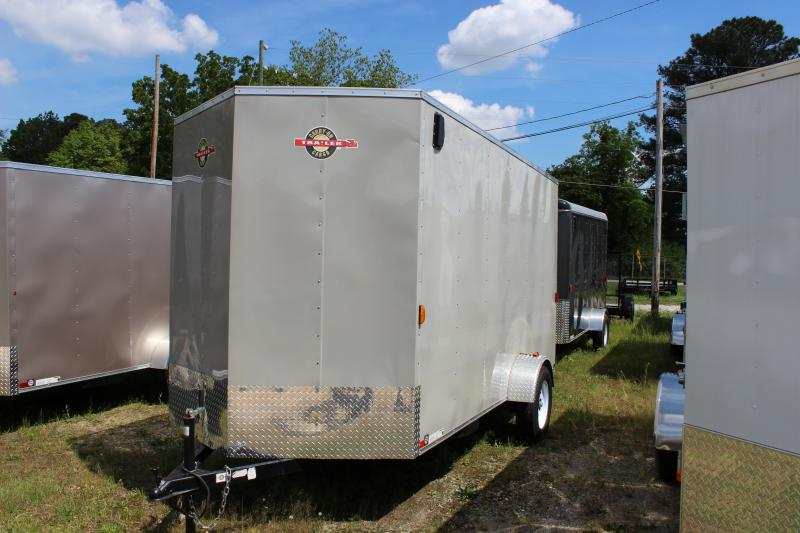 2018 Carry-On 6x14 Carry-On Gray Vnose Cargo Trailer Cargo / Enclosed Trailer