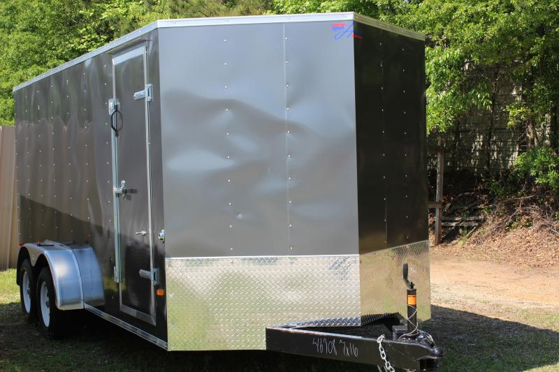 2018 Other Gray Horton Hybrid 7x16 Vnose Cargo Trailer Cargo / Enclosed Trailer in Plum Branch, SC