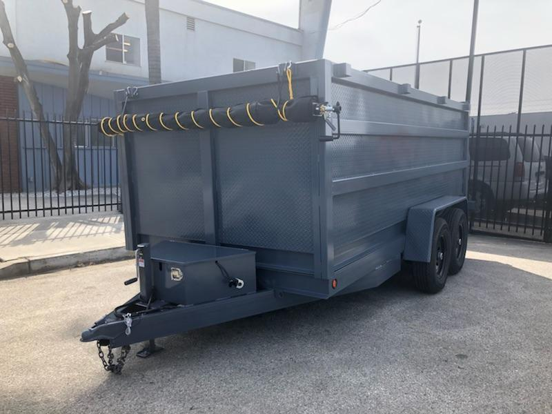 2019 SKY 8X 12 X 4 Gray Dump Trailer in Ashburn, VA