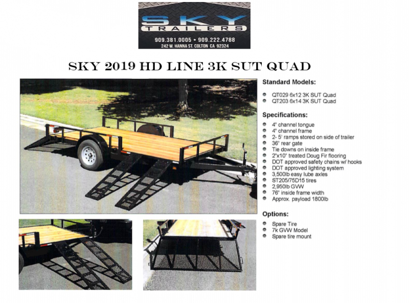 2019 SKY 3K Quad Toy Hauler