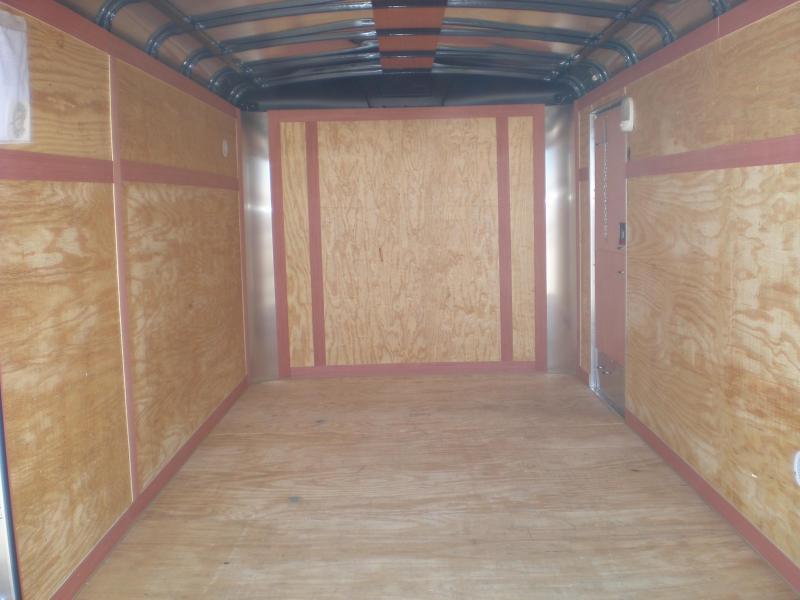 2019 Homesteader 7x12 Enclosed Cargo Trailer w/Brakes (White)