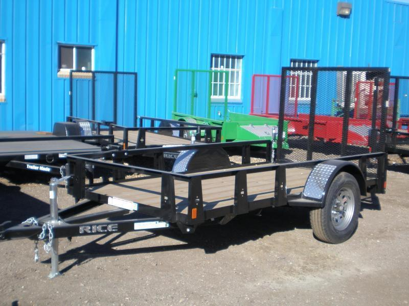 2019 Rice 5x10 Utility Trailer W/Gate  5K
