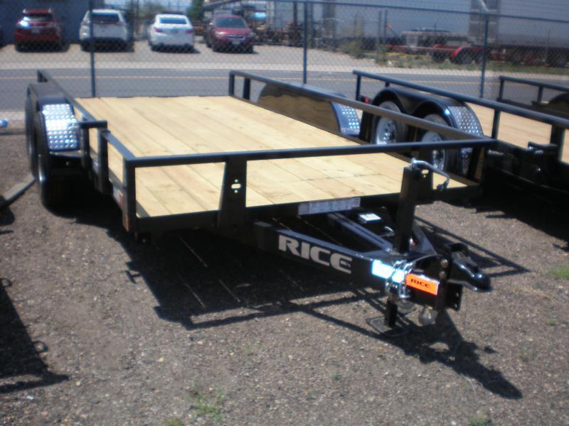 10K Rice 82x14 Utility Trailer - No Ramps