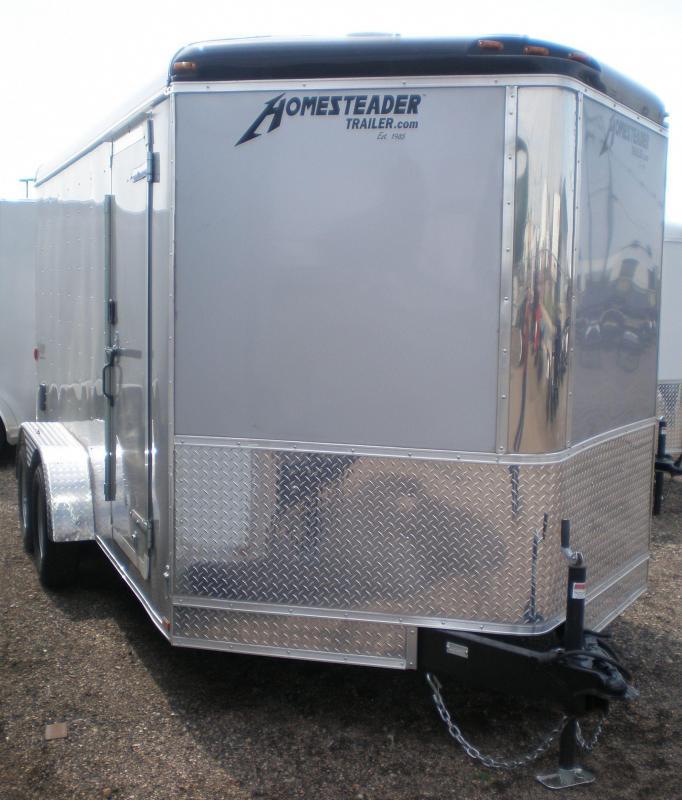 2017 Homesteader 7x14 Enclosed Cargo V Nose Trailer w/Ramp