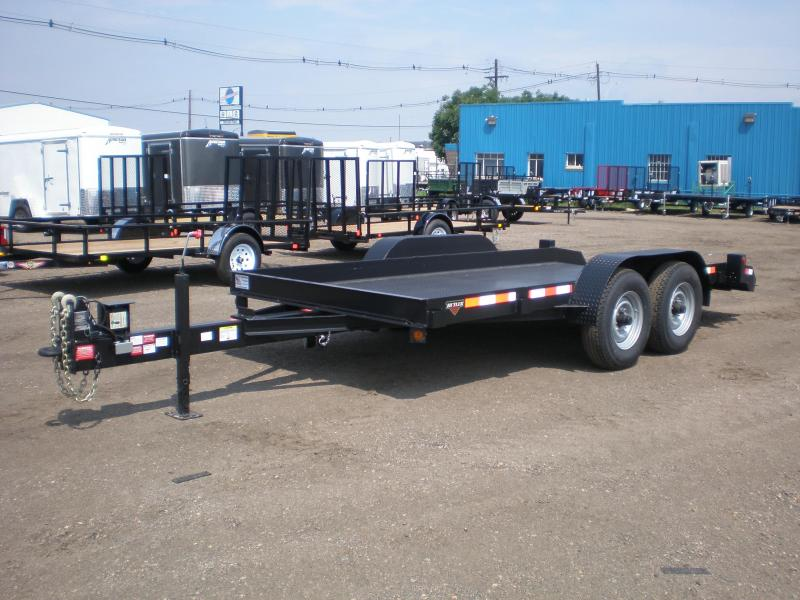 2017 Butler Tilt Flatbed Equipment Transport Trailer 14K