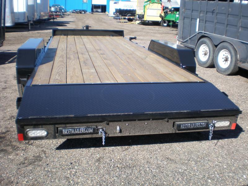 2018 Rice 7X20 10K Flatbed Equipment Trailer Trailers in
