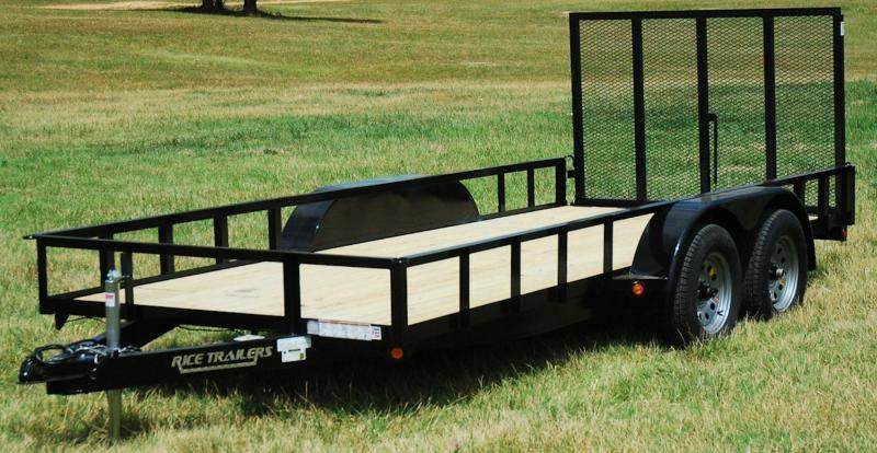 2018 Rice 76x14 Tandem Utility w/4' Ramp Gate