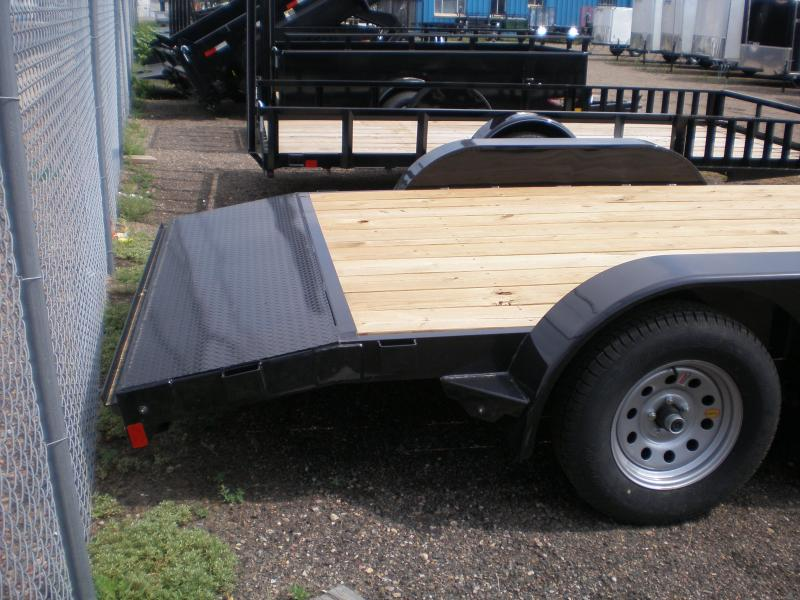 2019 Rice 82x16 Flatbed Car Hauler - Dovetail