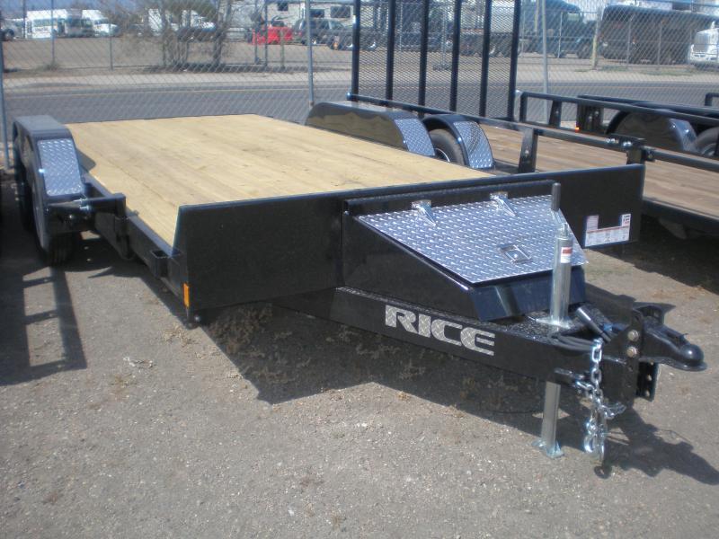 2020 Rice 82x16 Flatbed Car Hauler - No Dovetail