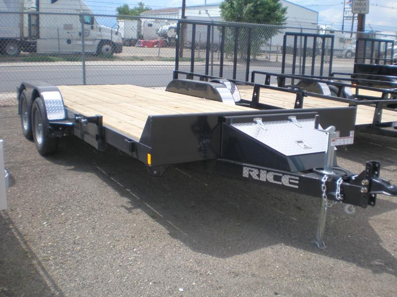 2019 Rice 82x18 Flatbed Car Hauler