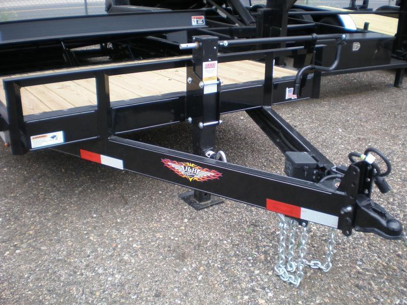 2019 H&H 82X22 PARTIAL TILT Flatbed Trailer 14K