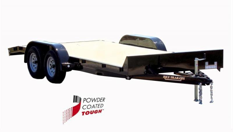 2018 Rice 82x16 Flatbed Car Hauler - No Dovetail