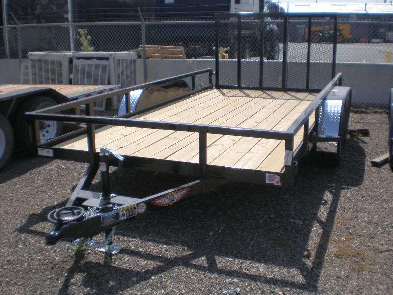 2020 H&H 82X14 Flatbed Utility Trailer