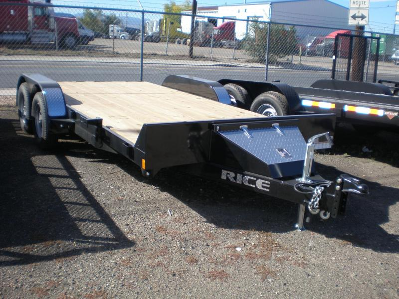 2018 Rice 7X16 Flatbed Car Hauler Trailer | Trailers in
