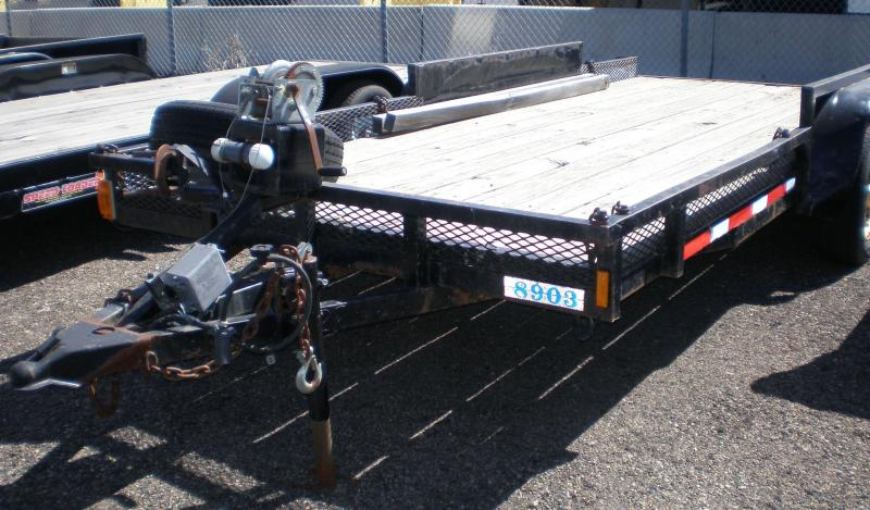 7x16 Flatbed Trailer w/Ramps