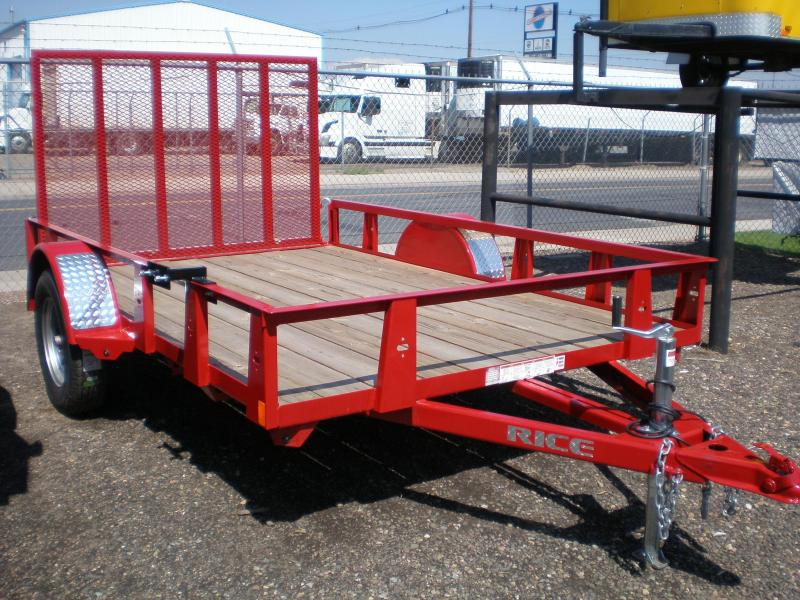 2019 Rice 76X10 Utility Trailer w/4' Ramp Gate