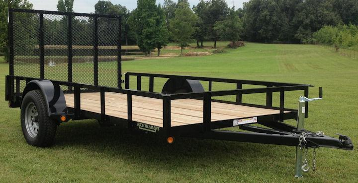 2018 Rice 76x14 Utility Trailer W/Ramp