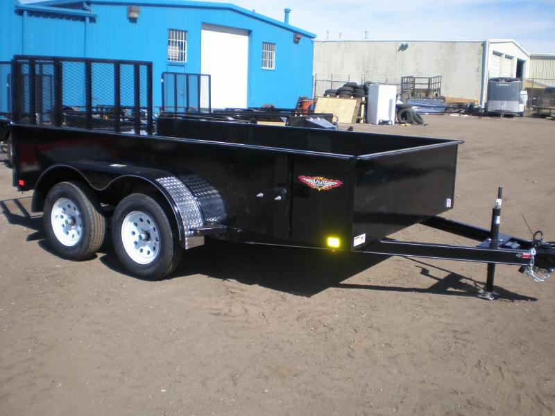 2018 H&H 76X12 Tandem Axle Solid Side Utility Trailer