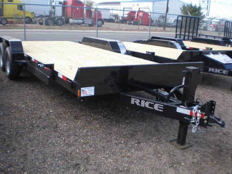 2019 Rice 82x20 HD Flatbed Equipment Trailer 10K