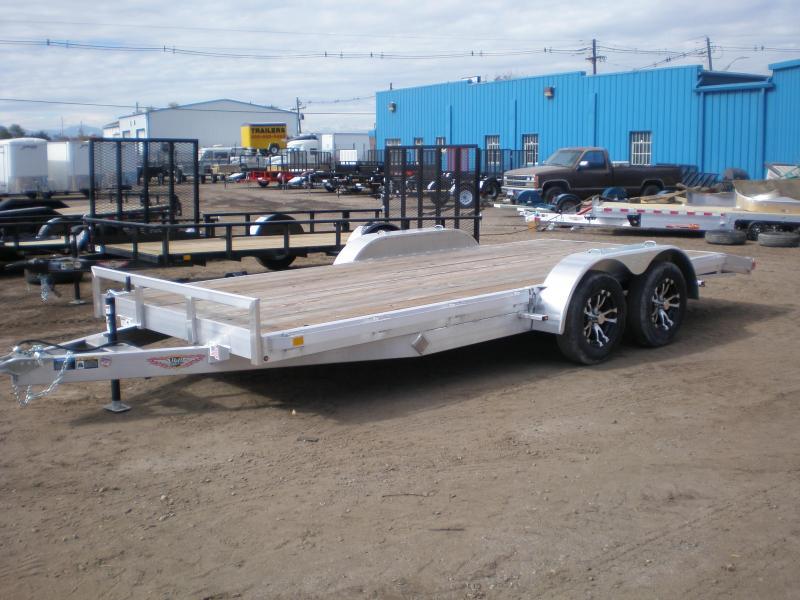 2019 h&h 82x18 aluminum flatbed trailer
