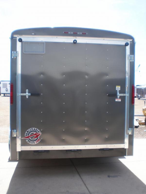 2020 Homesteader 7x16 Enclosed Cargo V Nose Trailer w/Ramp