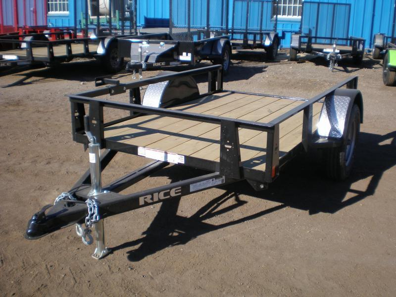 2019 Rice 5x10 Utility Trailer No Ramp