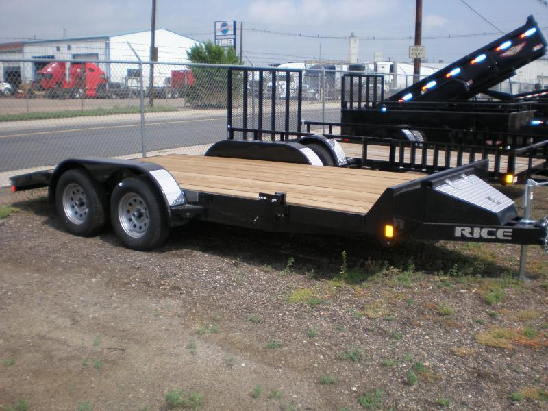 2019 Rice 82x16 Flatbed Car Hauler-Dovetail