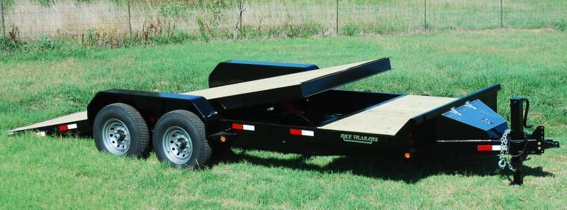 2020 Rice 7x20 Partial Tilt Flatbed Equipment Trailer 14K